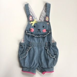 Other - Little Bunny Chambray Bubble Shortalls 18 Months